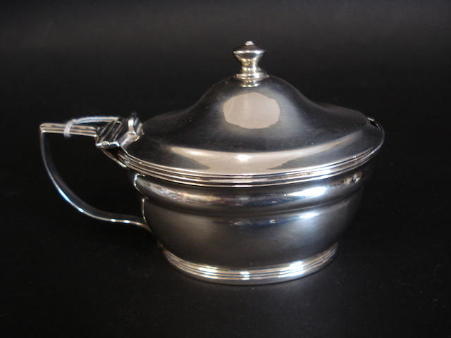 A George III mustard pot By E Morley, 1806