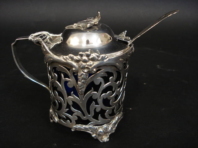 A Victorian silver mustard pot by William Hunter, London 1845