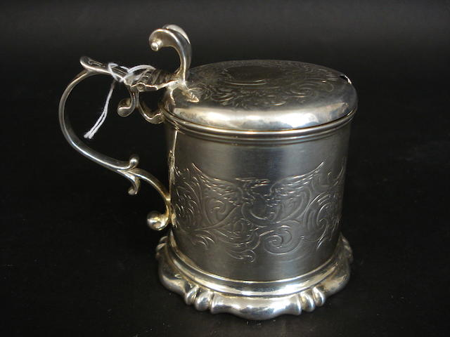 A Victorian mustard pot By CT & G Fox, London 1853