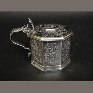 A Victorian silver mustard pot By G J Richards, 1854