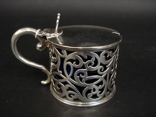 A Victorian silver mustard pot By W R Sobey, Exeter 1842