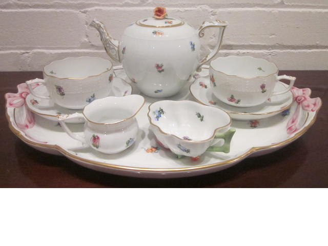 A Herend porcelain cabaret set