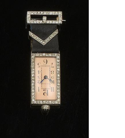 An Art Deco pendant watch