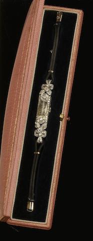 A diamond set cocktail watch