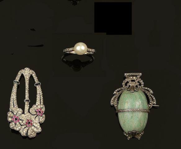 A collection of antique and later jewellery and watches