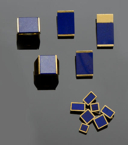 A collection of lapis lazuli jewellery (5)