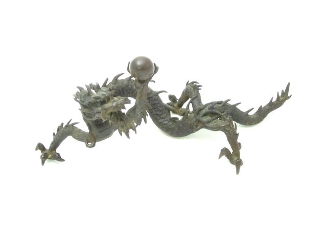 A bronze dragon Meiji