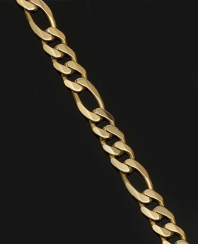 A 9ct gold curb-link necklace