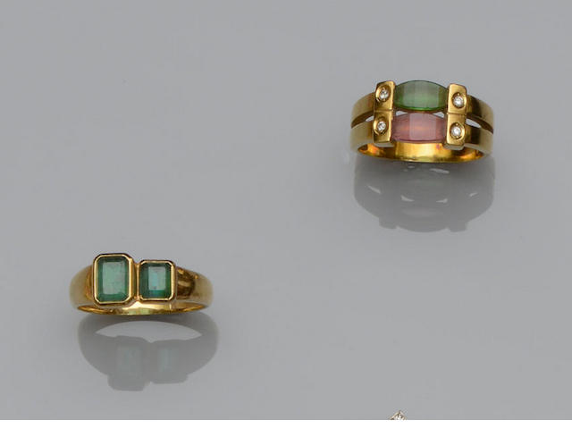 H Stern: Two gem set rings (2)