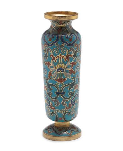 A small cloisonné enamel vase 18th century