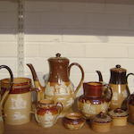 A collection of Doulton Lambeth and Royal Doulton harvest stonewares late 19th/early 20th Century