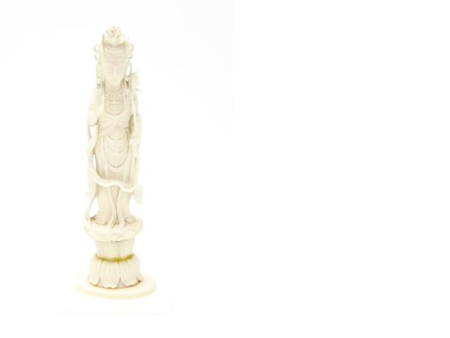 An ivory carving of Kannon Early 20th century