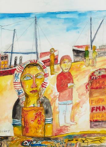John Bellany CBE RA HRSA LLD(Lon) (British, born 1942) Fisherwoman