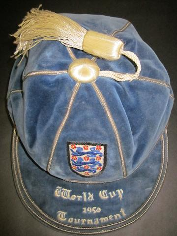1950 England international cap awarded to Henry Cockburn