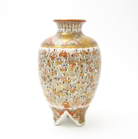 A Kutani 'hundred boys' vase Meiji, signed 'Oda'