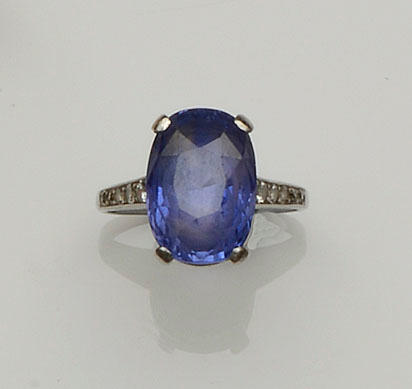 An early 20th century sapphire and diamond ring