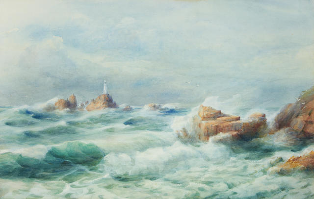 Jessie M. Hilson (Jersey, active 1890-1900) Corbiere Lighthouse, Jersey