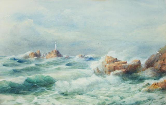 Jessie M. Hilson (Jersey, fl. 1890-1900) Corbiere Lighthouse, Jersey