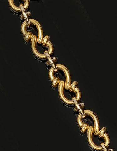 An 18ct gold collar necklace by Quadri