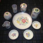 A box of miscellaneous Poole ceramics various styles and designs
