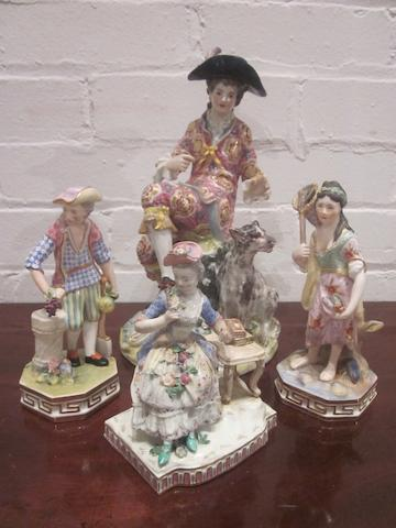 A collection of British and Continental porcelain figures 19th/20th Century