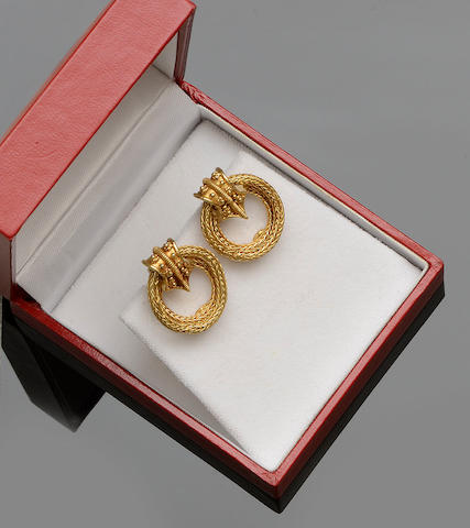 Lalaounis: A pair of earclips