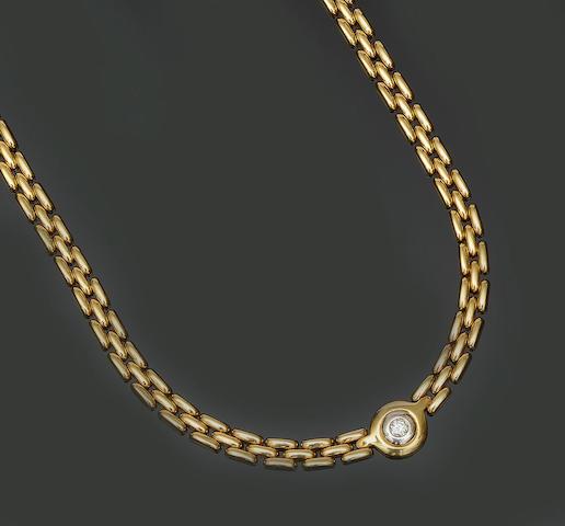 A single stone diamond necklace