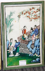Eleven Chinese pith or rice paper paintings