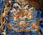 A Chinese embroidered fur-lined dragon robe