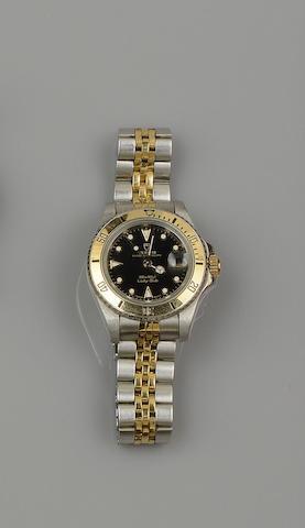 Tudor Rolex: A lady's Princess Oysterdate Lady-Sub wristwatch