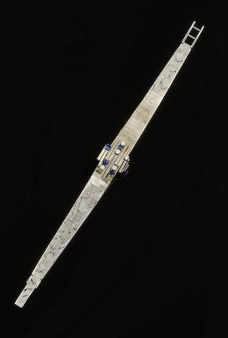 Girard Perregaux: A lady's sapphire and diamond set bracelet watch