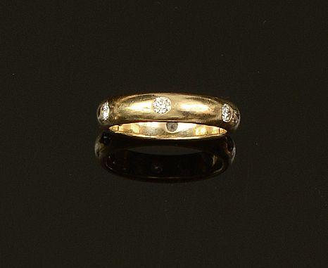 Cartier: A diamond set band ring