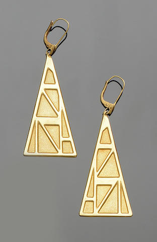 Lalaounis: A pair of pendent earrings