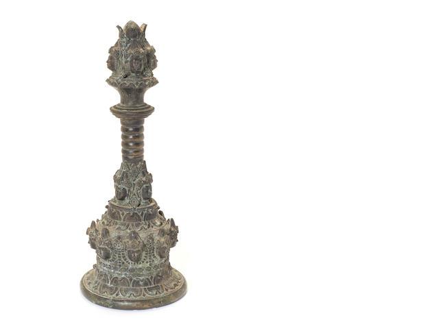 A bronze ritual bell, ghanta