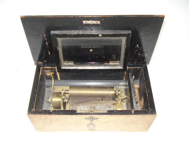 A small four-air musical box for restoration,