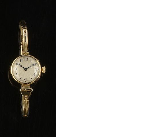 Rolex: An 18ct gold lady's wristwatch,