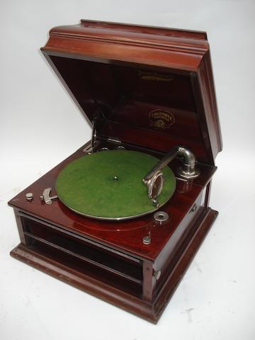 Two Columbia Grafonola gramophones,