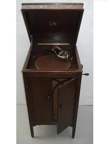 An HMV Model 158 re-entrant grand gramophone,