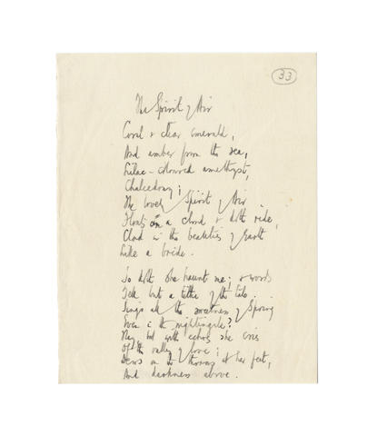 DE LA MARE, WALTER (1873-1956) THREE AUTOGRAPH MANUSCRIPTS