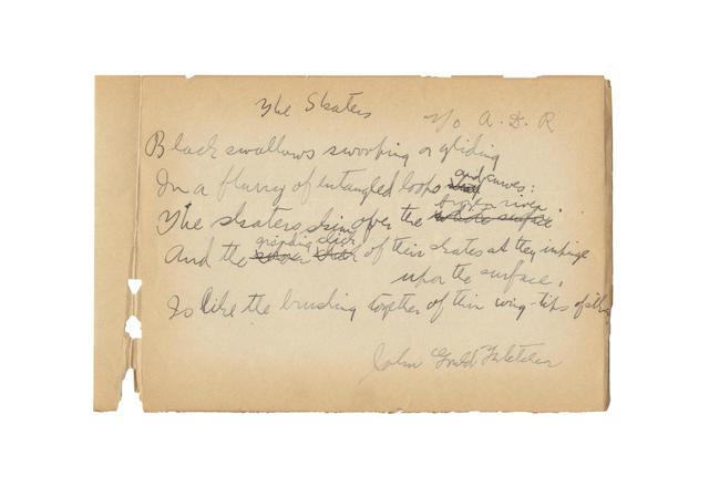 FLETCHER, JOHN GOULD (1886-1950, American poet)