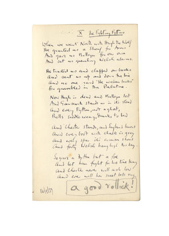 GAWSWORTH, JOHN (1912-1970) AUTOGRAPH NOTEBOOK 'A', INSCRIBED 'VERSES' (SEPTEMBER-NOVEMBER 1937'), 1937