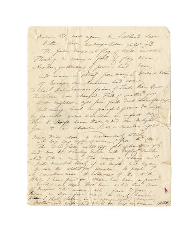 HAMILTON, WILLIAM ROWAN (1805-1865, Irish scientist and poet) AUTOGRAPH MANUSCRIPT OF TWO SONNETS, signed with initials, 1835