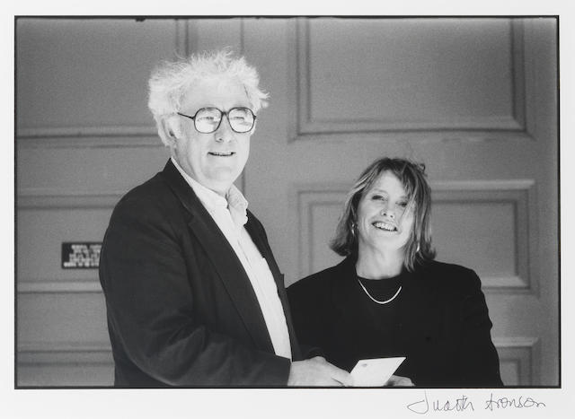 HEANEY, SEAMUS (b. 1939, Irish poet), JOINT PORTRAIT WITH HIS WIFE MARIE BY JUDITH ARONSON (b. 1942), Harvard University, Cambridge, Massachusetts, 1994 (printed later)