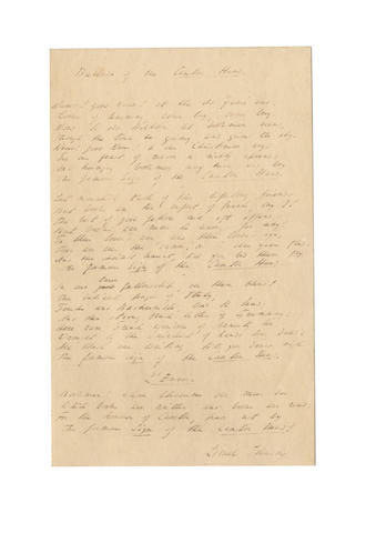 JOHNSON, LIONEL (1867-1902) AUTOGRAPH MANUSCRIPT OF HIS 'BALLAD OF THE CAXTON PRESS', signed