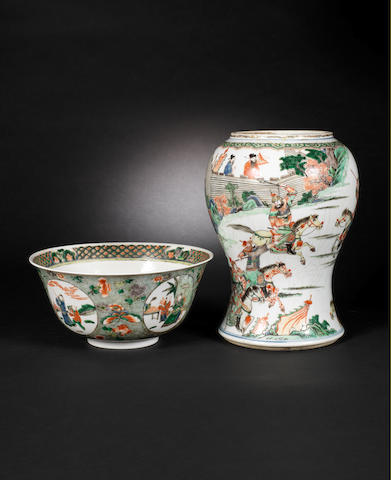Two famille verte wares  Qing Dynasty and later CHECK