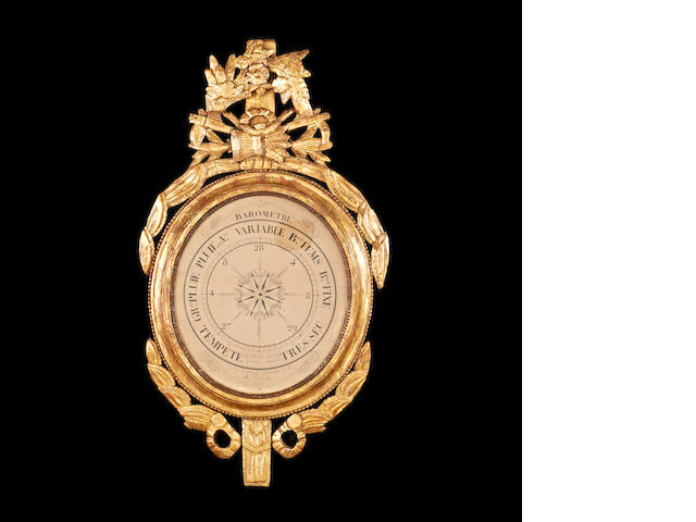 A 19th century French giltwood barometer