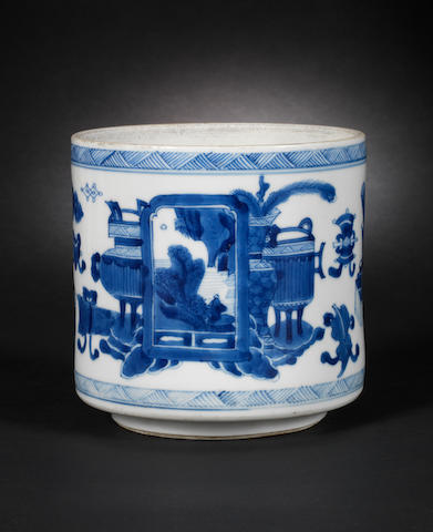 A blue and white bowl Kangxi