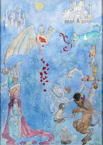 Enid Sybil Mills (British, 1901-1985) 'The Land of Dreams'