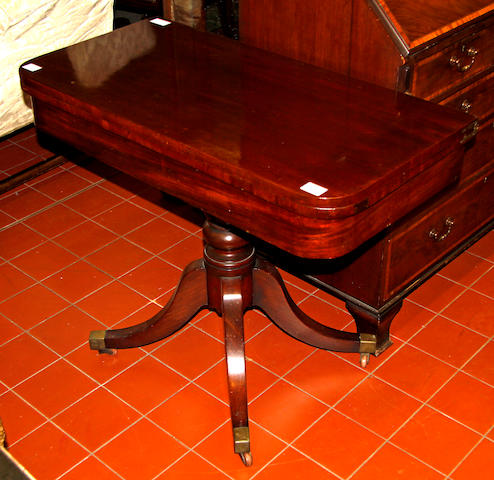 A George III mahogany tea table