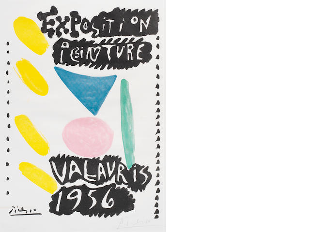 After Pablo Picasso Exposition Peinture Vallauris 1956 (Czwiklitzer 95) Offset lithograph printed in colours, 1956, on roto blanc paper, signed in pencil, stamped copy number 81 verso, from an edition of 250, 655 x 499mm (25 1/2 x 19 5/8in)(SH)